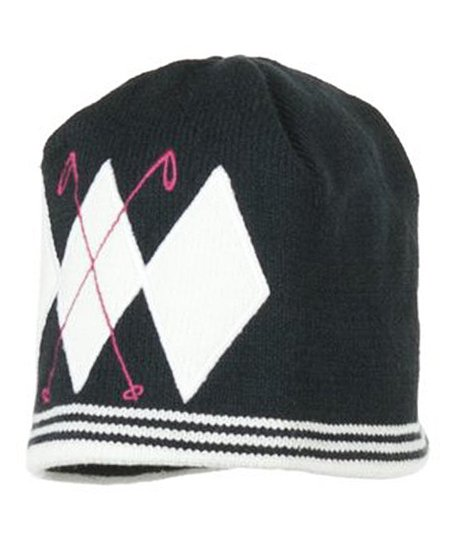 Black Poles Knit Beanie