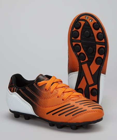 Orange & Black Velocity Soccer Cleat - Kids
