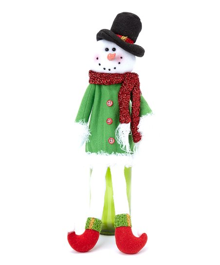 Red Scarf Snowman Bottle Cover