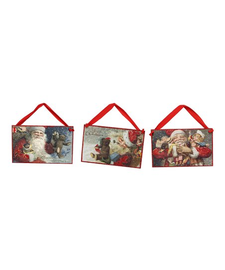 Vintage Christmas Postcard Hang-Up Set