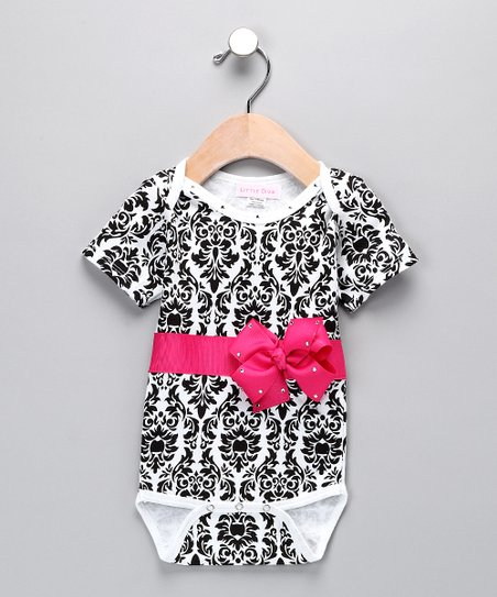 Black & White Damask Bodysuit - Infant