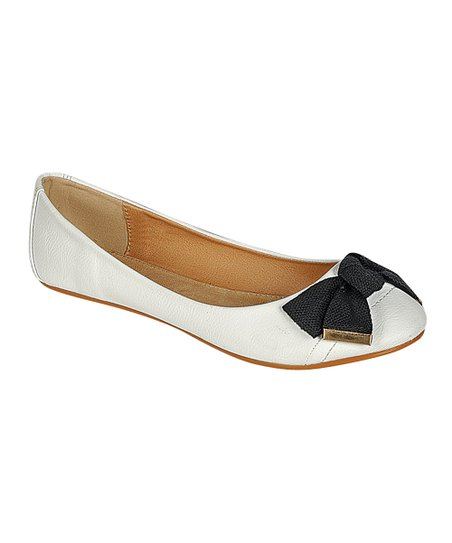 White Foaming Ballet Flat