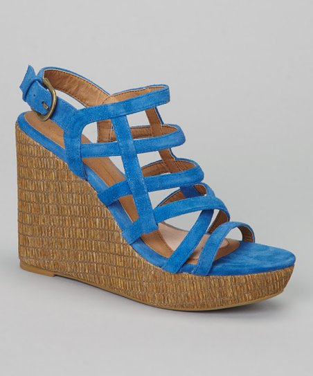 Royal Blue Suede Bird Cage Sandal