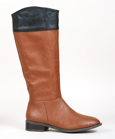 Chestnut & Black Contrast Boot