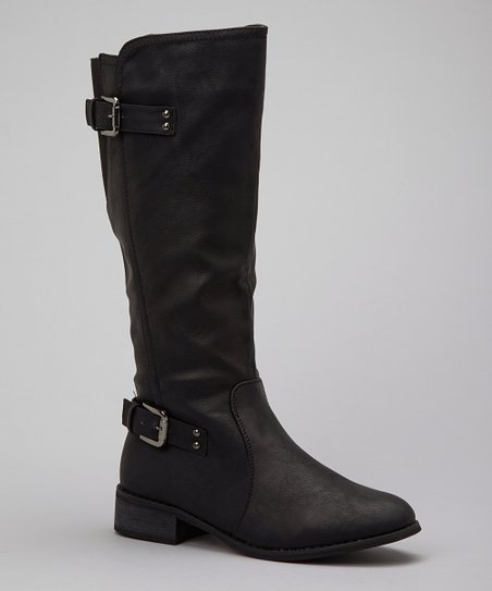 Black Buckle Olympia Boot