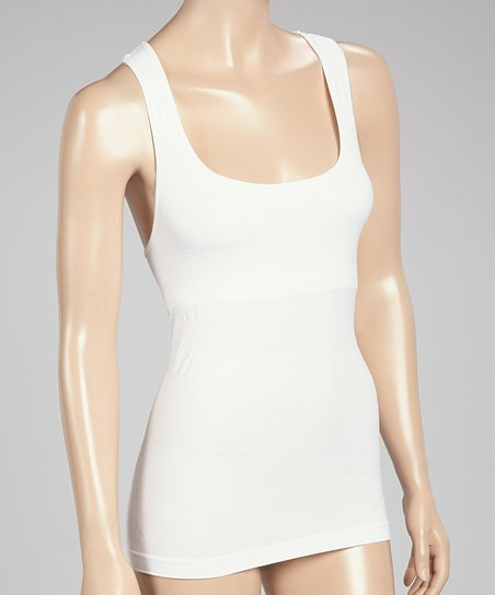 White Shelf Bra Shaper Tank - Women