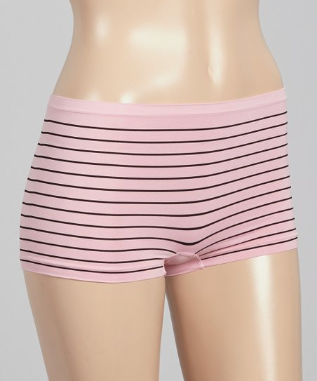 Pink & Black Stripe Shaper Boyshorts