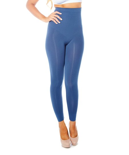 Navy High-Waisted Shaper Leggings - Women & Plus