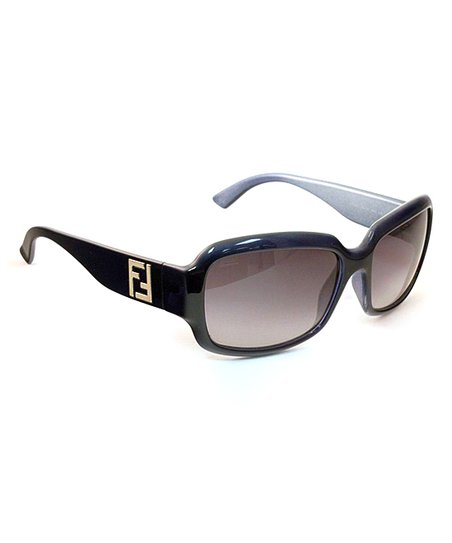 Blue Logo Rectangle Sunglasses