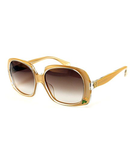 Light Brown Square Sunglasses