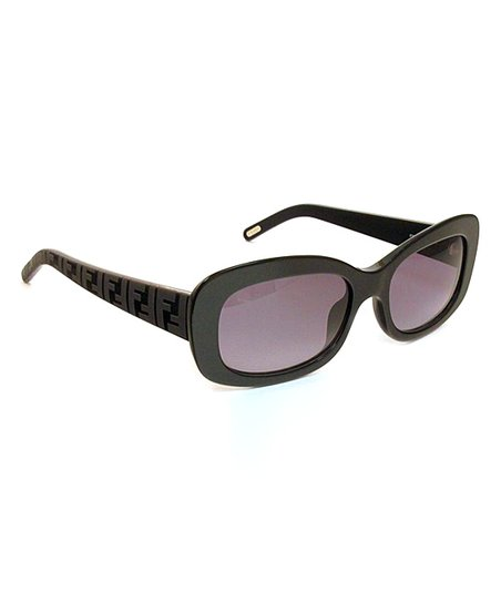 Black Horn Bold Rectangle Sunglasses