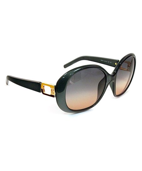 Metal Green & Gold Sunglasses