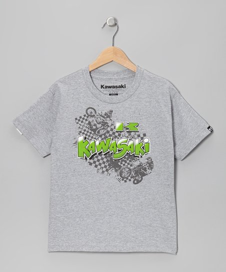 Gray Whipped Tee - Kids