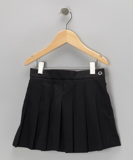 Black Pleated Skirt - Girls