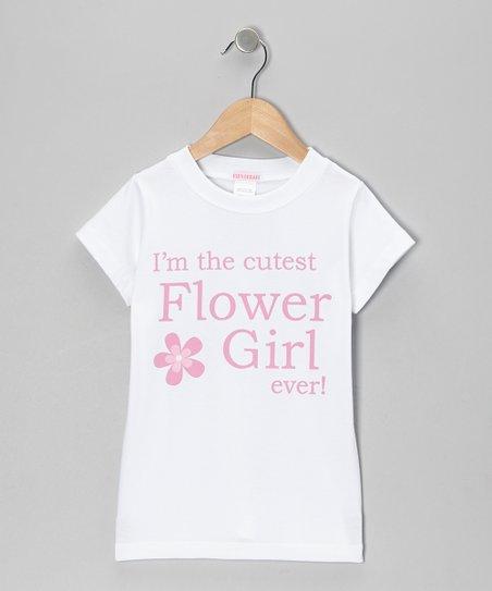 White Flower Girl Tee - Toddler & Girls