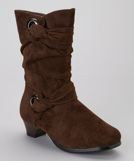 Brown Knotted Boot