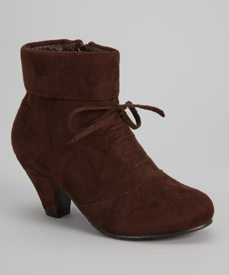 Brown Lace-Up Ashley Boot