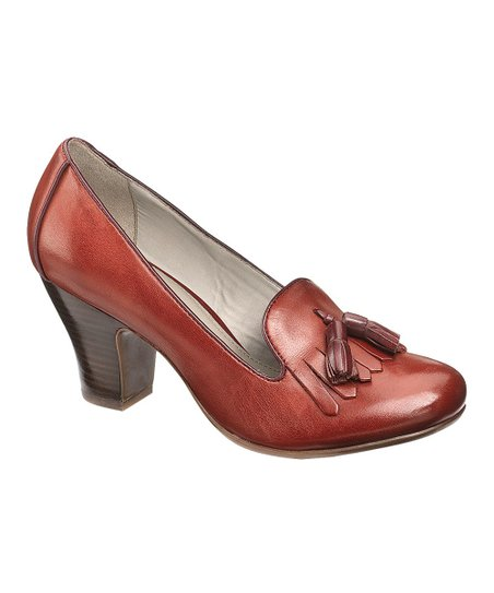 Dark Red Leather Lonna Pump - Women