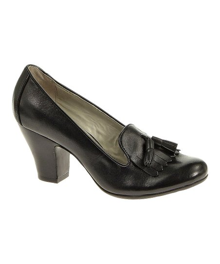 Black Leather Lonna Pump - Women