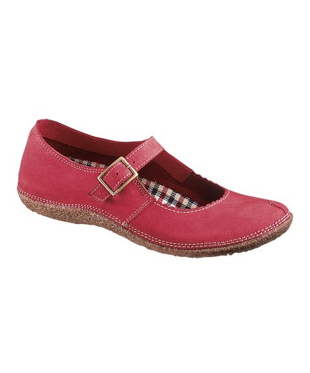 Red Suede Mindset Mary Jane - Women