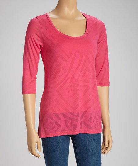 Hibiscus Secret Shaper Three-Quarter Sleeve Tee - Women