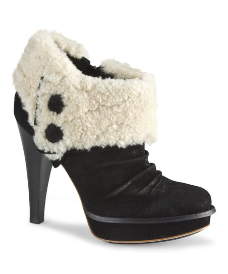 Black Georgette Bootie