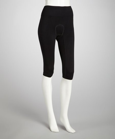 Black Capri Riding Tights - Women