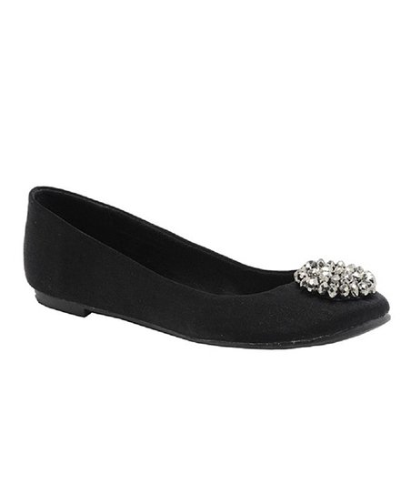 Black Brushed Madra Ballet Flat