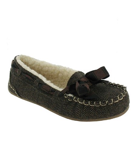 Brown Twinings Tweed Regan Slipper