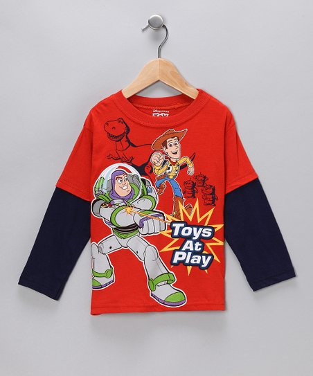 Red & Navy Toy Story ''Toys at Play'' Layered Tee - Toddler