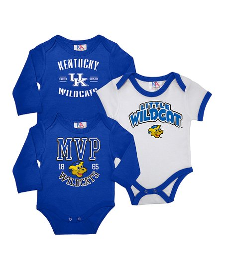 Royal & White Kentucky Long-Sleeve Bodysuit Set - Infant