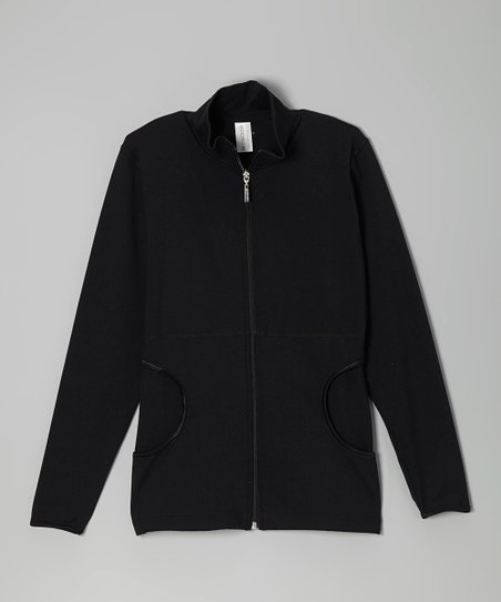 Black Pocket Jacket - Women