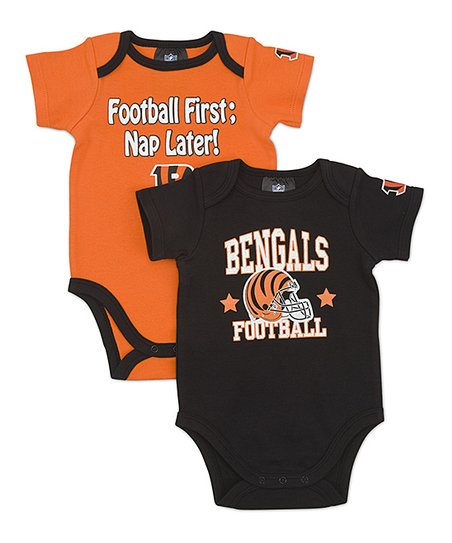 Black & Orange Cincinnati Bengals Bodysuit Set - Infant