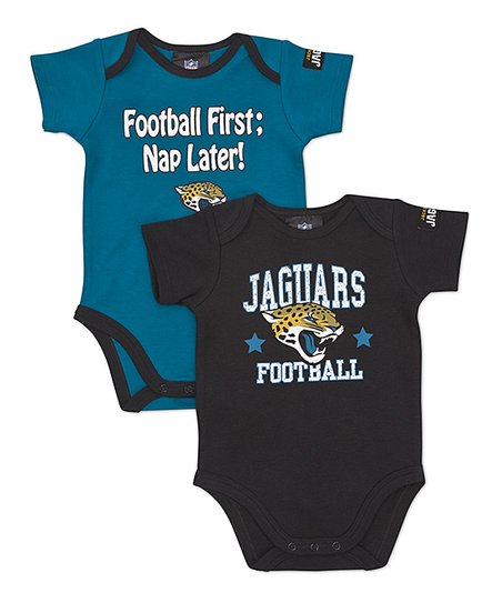 Black & Teal Jacksonville Jaguars Bodysuit Set - Infant