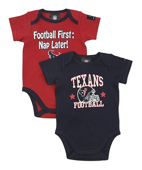 Navy & Red Houston Texans Bodysuit Set - Infant