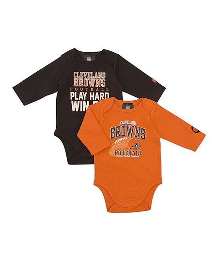 Cleveland Browns Long-Sleeve Bodysuit Set - Infant