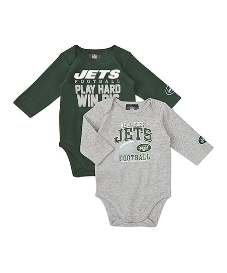 New York Jets Long-Sleeve Bodysuit Set - Infant