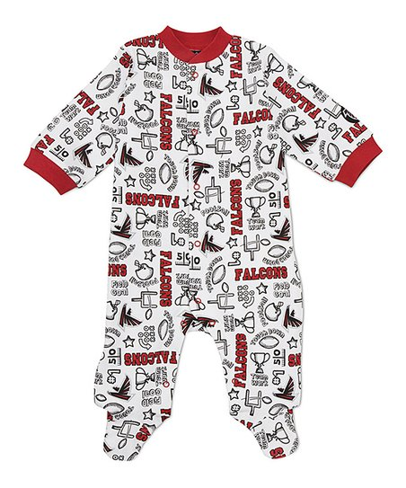 White Atlanta Falcons Footie - Infant