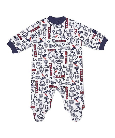 White Houston Texans Footie - Infant