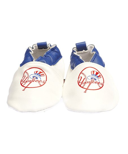 New York Yankees White & Blue Bootie - Kids