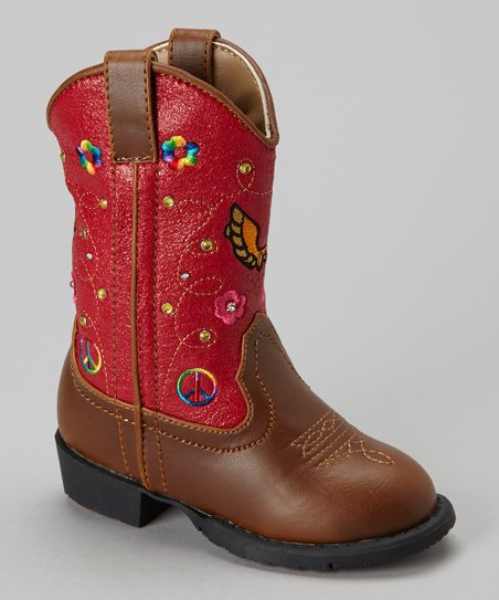Red Austin Light-Up Cowboy Boot - Kids