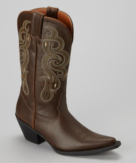 Chocolate Coppell Cowboy Boot - Women