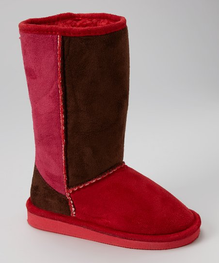 Red & Fuchsia Betty Boot