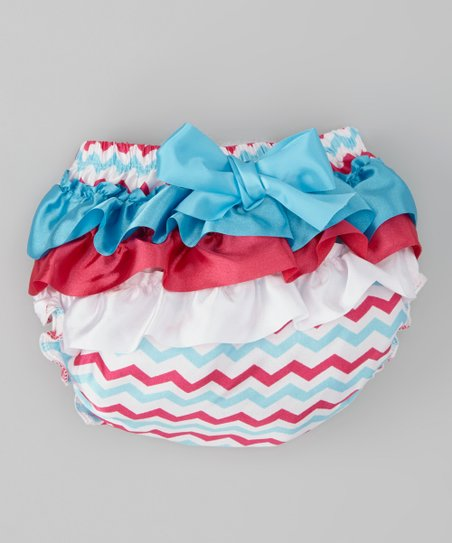 Turquoise & Hot Pink Zigzag Diaper Cover - Infant & Toddler