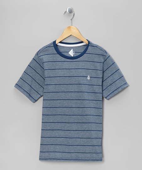 Navy Paint Stripe Tee - Toddler