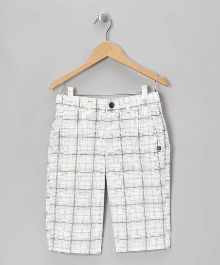 White Vmonty Plaid Shorts - Boys