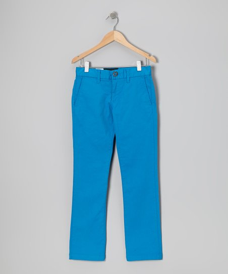 Atlantic Blue Chino Pants - Boys