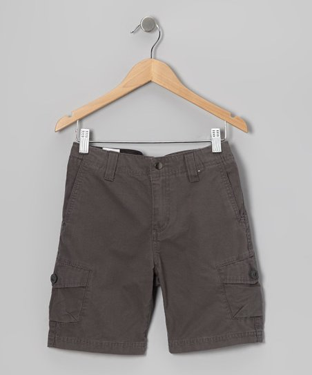 Gray Racket Cargo Shorts - Boys