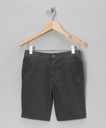 Charcoal Vmonty Shorts - Toddler & Boys