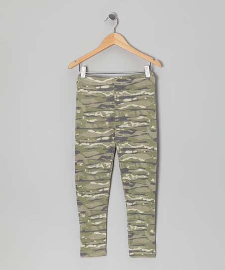 Olive Camo Leggings